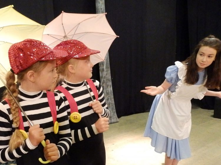 Alice's Wonderland musical script for schools and drama groups. Alice meets Tweedledee and Tweedledum.